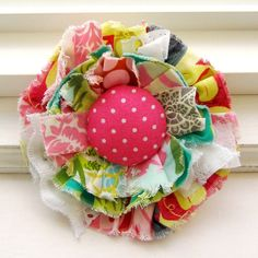Love this fabric flower!