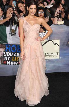 Ashley Green wearing Donna Karan