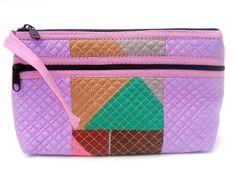 valentines gift ZIP & SIDE ZIP multi colors multi lylic burgundy pink SILK purse