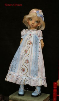 Bjd Doll Dress set, clothes for Kaye Wiggs Layla or other MSD some SD like Tobi you get complete outfit