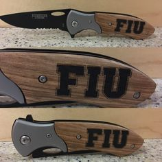 FIU pocket knife    brand new blade    wood handle | Shop this product here: http://spreesy.com/Lazewerkz/18 | Shop all of our products at http://spreesy.com/Lazewerkz    | Pinterest selling powered by Spreesy.com