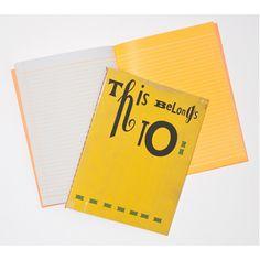 Sara Fanelli yellow notebook