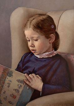 Scott E. Bartner 'Eva Reading' (Artist's daughter) 2004
