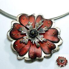 Red Flower Necklace — Deb Karash Jewelry