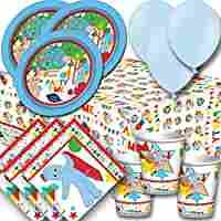 In the Night Garden Party Pack For 8 - Plates, Cups, Napkins, Balloons and Tablecover