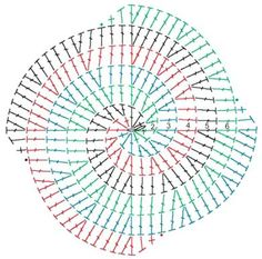 Разноцветный спиральный мотив
