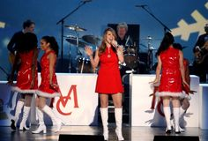 "Mariah Carey rings in the holiday season with a performance of Darlene Love's ""Christmas (Baby Please Come Home)"" during ""The GRAMMY Nominations Concert Live!!"" on Dec. 3, 2008"