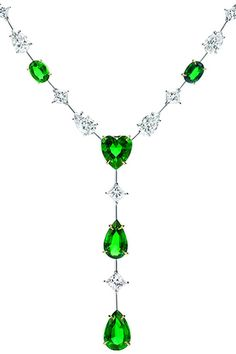 GABRIELLE'S AMAZING FANTASY CLOSET | Harry Winston - Emerald and Diamond Y Pendant