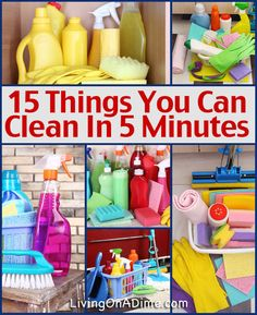 15 Things You Can Clean in 5 Minutes In The Kitchen - take advantage of the 5 minute commercial to get something done. Make a similar list for other rooms in the house