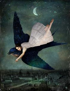 'fly me to paris ' by Christian  Schloe on artflakes.com as poster or art print $18.03