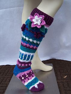 You will really be in style with these flower knee socks.