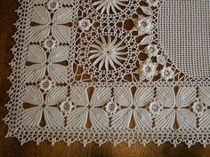 Lace crochet close up