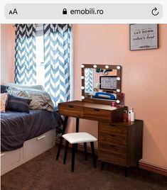 Makeup Dressing Table, Led, Corner Desk, Vanity, Furniture, Home Decor, Vanity Area, Homemade Home Decor, Lowboy