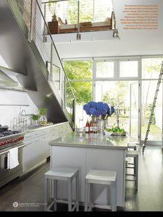 Bright and pretty kitchen from the March April 2014 issue of Veranda