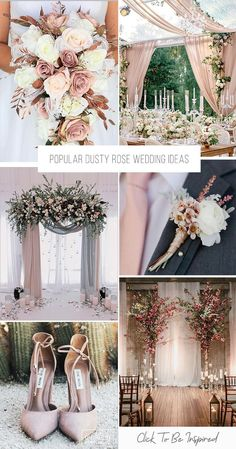 Dusty rose is becoming the wedding trend in This pink tone is a perfect color. Here are some chic dusty rose wedding ideas! Dusty rose is becoming the wedding trend in This pink tone is a perfect color. Here are some chic dusty rose wedding ideas! Chic Wedding, Wedding Ceremony, Dream Wedding, Wedding Day, Simple Church Wedding, Space Wedding, Perfect Wedding, Wedding Bands, Boho Wedding Decorations