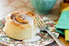 So excited to find this quick (no yeast) and eggless cinnamon roll recipe!