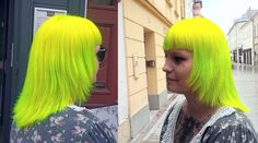 directions hair colour , neon yellow