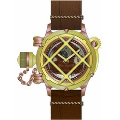 Women's Wrist Watches - Invicta Russian Diver Mechanical Copper Dial Brown Leather 14814 * Be sure to check out this awesome product.