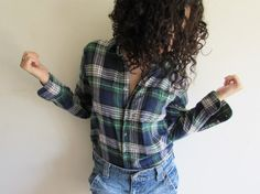 Vintage Loved Faded Grunge Rock and Roll Plaid by FunkyOldSoul