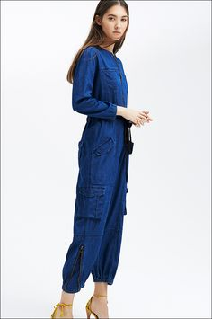 2fb0eedb975 Re-invented flight suit   Mechanics Coveralls by Ulla Johnson Lookbook at  Barneys New York