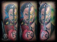 #realistic #realistictattoo #tattoo #tattoos #comic #ironman #detail #color #awsometattoos0 #portrait #marvel #ink #best #avangers #gericsek #gericsektattooartist #art #budapest #black #moon