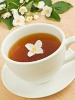 Jasmine Tea Benefits - aroma reduces anxiety; helps with muscle/joint/chronic back pain; anti-aging, clear complexion; boosts immune, helps allergies, cold, anti-cancer, anti-bacterial, helps w weight loss, lowers cholesterol, anti-depressant.