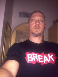 Jeff Deemy won a t-shirt for telling us five words he thought described Break!