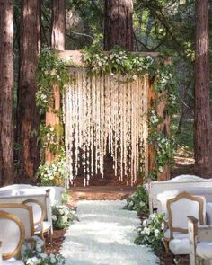 Whimsical Wedding Arch Woodland Wedding Inspiration Wooden Arch Cascading Floral Arrangement Greenery Romantic Aisle Inspiration Perfect for a Fall Ceremony in the W. Wedding Ceremony Ideas, Woodsy Wedding, Ethereal Wedding, Wedding In The Woods, Rustic Weddings, Unique Weddings, Trendy Wedding, Whimsical Wedding Theme, Arch Wedding