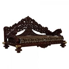 Wooden Seater with Delecated Look and Most Economical In Walnut Finish - - Seater Indian Swing, Door Design, House Design, Temple Design For Home, Living Room Sofa Design, Walnut Finish, Wood Art, Home And Living, Fabric Design