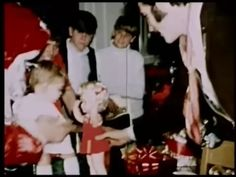 Elvis and his daugther Lisa-Marie with Christmas