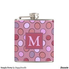Simply Dotty Personalized Hip Flask