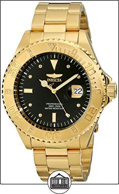 Invicta 15286 - Reloj para hombre color negro / dorado de  ✿ Relojes para hombre - (Gama media/alta) ✿