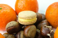 Treffen sich Macarons, Maroni,Mandarinen und ein Mousse