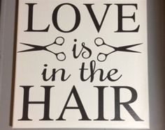 Painted canvas sign hair salon decor hair by SunShineWallArt