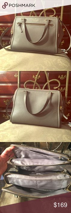 Kate Spade handbag (taupe/gray) Excellent condition! Very spacious handbag despite its small appearance. Used, but handled with care. 💙 kate spade Bags Totes
