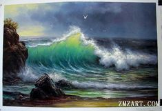 seascape painting:ocean wave,Seascape,oil on canvas-Order case:oil paintings