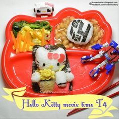 レシピとお料理がひらめくSnapDish - 22件のもぐもぐ - Hello Kitty Movie Time   #hellokitty #kwbentodiary #Dinner #foodart #sanrio by Karenwee's Bento Diary