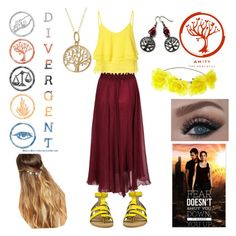 """DIVERGENT: Amity"" by jinx-the-nerd ❤ liked on Polyvore featuring moda, Fremada, Glamorous, Joe's Jeans, Johnny Loves Rosie, women's clothing, women, female, woman e misses"