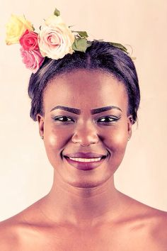 #African #queens #chocolateskin #ebonycolor #flower inspired them for #picturenative.com