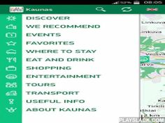 """Kaunas  Android App - playslack.com , Mobile application """"Kaunas"""" is devoted to incoming tourists as well as urbanites looking for leisure ideas. This is the guide in your telephone which indicates places of interest , accommodation and catering facilities as well as main events in Kaunas city. Easy information supply lets you quickly find the one you are interested in. Installed audio guide function enables a sound record, which offers broader description of places to visit in Kaunas free…"""