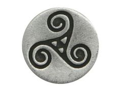 Small Celtic Triple Spiral Triskele <br> 9/16 inch ( 15 mm ) - product images