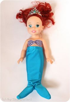 Nap Time Crafters: Dressing Up Dolly: Mermaid Tail Pattern