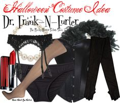 A Halloween costume idea inspired by Rocky Horror Picture Show character Dr. Frank-N-Furter played by Tim Curry.