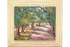 Country Road Painting on OneKingsLane.com. Original vintage art.  From Anna Hackathorn Interior Design.