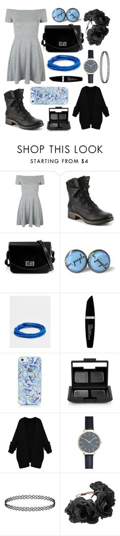 """The Sound"" by bluedaisywhale ❤ liked on Polyvore featuring Topshop, Pilgrim, Max Factor and NARS Cosmetics"