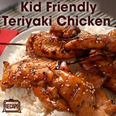 Rachael Ray shared an Uncle Ben inspired recipe to make a delicious and kid-friendly Teriyaki Chicken Recipe. Rachael's teriyaki sauce is homemade, which means it's not all made of sugar, and you can use your own favorite quality ingredients for a healthy Food Network Recipes, Real Food Recipes, Cooking Recipes, Healthy Recipes, Yummy Recipes, Recipies, Yummy Food, Fast Recipes, Slow Cooking