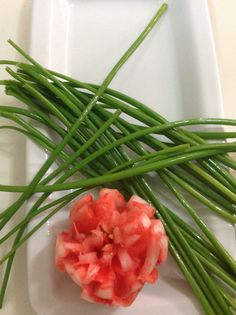 Criss cross chives...