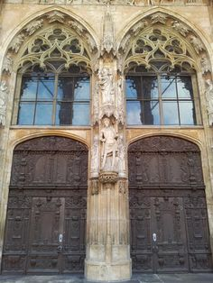 Our Lord at the facade of the Ulmer Münster, Württemberg