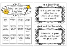 FREEBIE - easy to set up fairy tales Read the Room activity