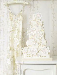 Fairytale Wedding Cakes by Zoe Clark - Floral Abundance Wedding Cake